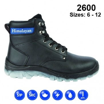 2600 Black Leather Safety Boot