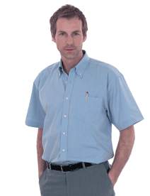 UC702 Mens Pinpoint Oxford Half Sleeve Shirt