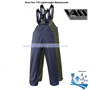 VF1754-13 Vass-Tex 170 Series Lightweight & Flexible Waterproof Bib & Brace Trouser