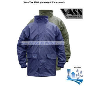 VF1754-20 Vass-Tex 170 Series Lightweight & Flexible Waterproof Jacket with Hood