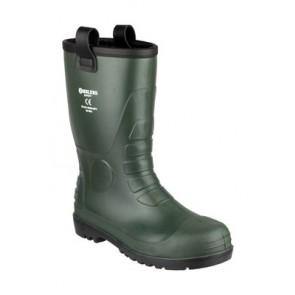 FS97 Green PVC Rigger, Ribbed Heel Kick