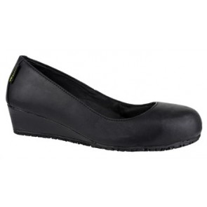 FS107 Ladies Wedge Heel Safety Court Shoe