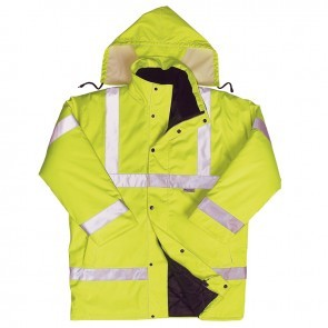 HV09YL Yellow Class 3 Hi Viz Long Sleeves Coatlet
