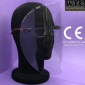 Lightweight Face Visor & easy-clip system for prescription glasses (CE Certified for use against the COVID-19 virus)