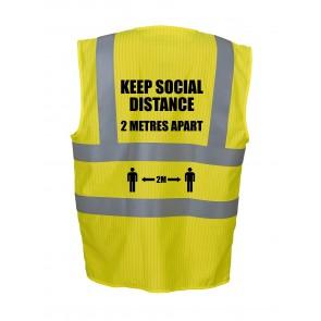 Social Distance 2m Hi Vis Vest